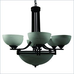 Yosemite Home Decor Sequoia 9 Lights Chandelier in Dark Brown