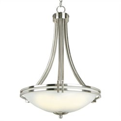 Yosemite Home Decor Sequoia 3 Lights Pendant Lighting in Satin Nickel