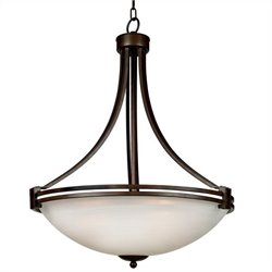 Yosemite Home Decor Sequoia 4 Lights Pendant Lighting in Brown