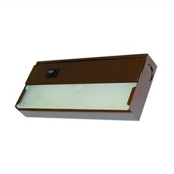 Yosemite Home Decor 1 Light Under Cabinet Xenon Lights in Bronze with Frosted Glass Diffuser