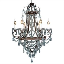 Yosemite Home Decor Pimpernel 6 Lights Chandelier in Rustic
