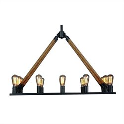 Yosemite Home Decor Fescue 12 Lights Chandelier in Iron Black