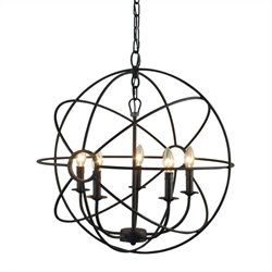Yosemite Home Decor Shooting Star 5 Lights Mini Chandelier in Rustic