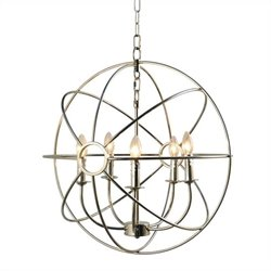 Yosemite Home Decor Shooting Star 5 Lights Mini Chandelier in Nickel Plated