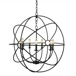 Yosemite Home Decor Shooting Star 7 Lights Mini Chandelier in Rustic