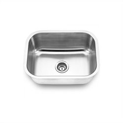 Yosemite MAG2318 18 Gauge Stainless Steel Undermount Single Bowl Sink