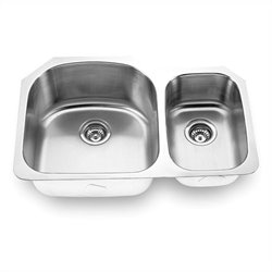 Yosemite MAG3121L 18 Gauge Stainless Steel Undermount Double Bowl Sink
