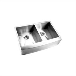 Yosemite MAGC3320DAP 16 Gauge Stainless Steel Farmhouse Double Bowl Kitchen Sink