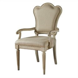 ART Furniture Provenance Upholstered Back Arm Dining Chair in Linen
