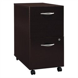 Bush Business Furniture Series C 2Dwr Mobile Pedestal in Mocha Cherry