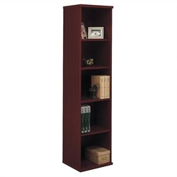 Bush BBF Series C 18W 5-Shelf Bookcase in Mahogany