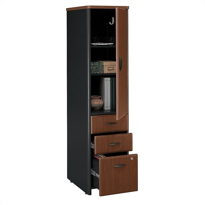 Bush Business Furniture Series A Vertical Locker in Hansen Cherry