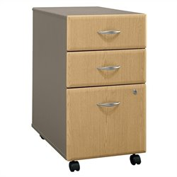 Bush BBF Series A 3Dwr Mobile Pedestal in Light Oak