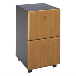 Bush Business Furniture Series A 2Dwr Mobile Pedestal Natural Cherry
