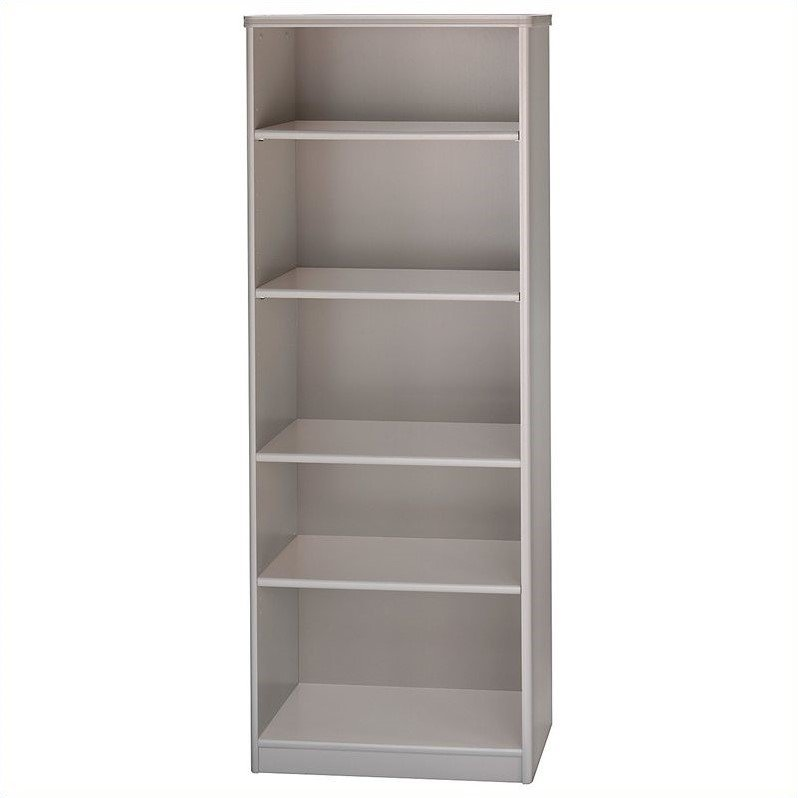 Bush Business Furniture Series A 26W 5-Shelf Bookcase in Pewter
