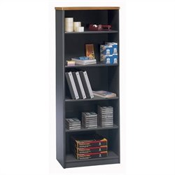 Bush Business Furniture Series A 26W 5-Shelf Bookcase Natural Cherry