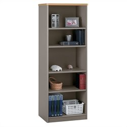 Bush BBF Series A 26W 5-Shelf Bookcase in Light Oak