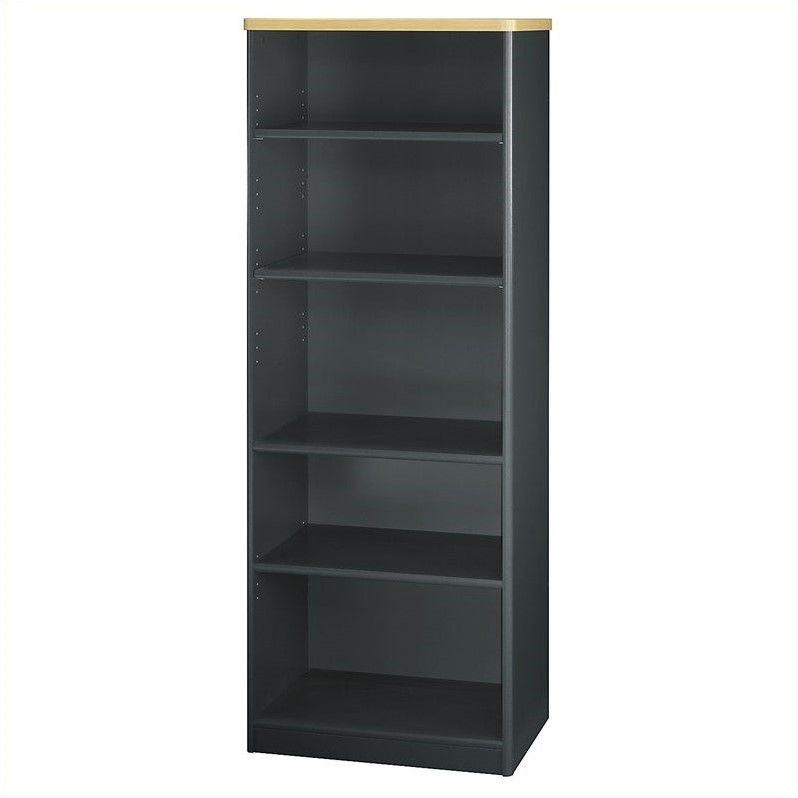 Bush Business Furniture Series A 26W 5-Shelf Bookcase in Beech