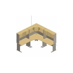 Bush BBF Series A 6-Piece Corner Desk Set with Hutches