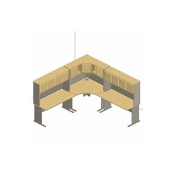 Bush BBF Series A 6-Piece L-Shape Corner Desk Set with Hutches