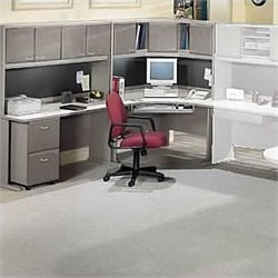 Bush Business Furniture Series A Corner Desk with Hutch White Spectrum