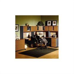 Bush Business Furniture Series A RH Corner Office Set Natural Cherry