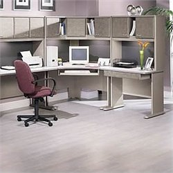Bush BBF Series A 6-Piece Corner L-Shape Desk Set with Hutches