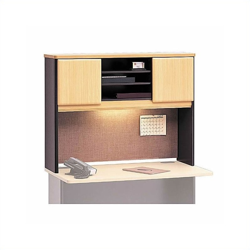 Bush BBF Series A U-Shape Corner Cubicle Desk Set in Beech