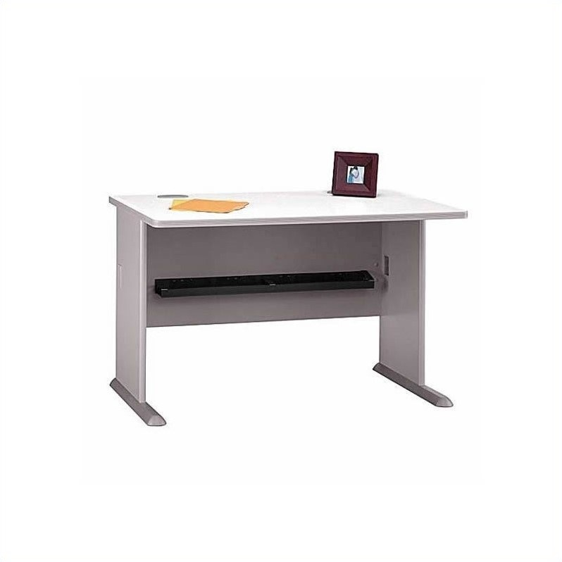 Bush BBF Series A 11-Piece T-Shape Workstation Desk Set in Pewter
