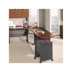 Bush BBF Series A Left L-Shape Wood Desk Set with Hutch in Hansen Cherry