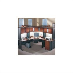 Bush Business Furniture Series A Hansen Cherry Corner Cubicle Set
