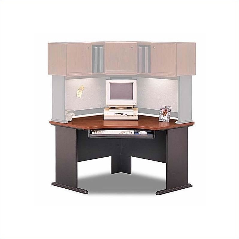 Bush BBF Series A Hansen Cherry D Shaped Workstation