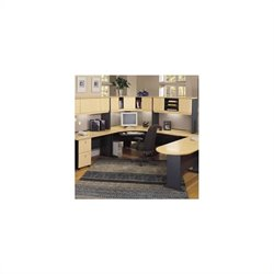 Bush BBF Series A 7-Piece L-Shape Corner Desk Set with Hutch