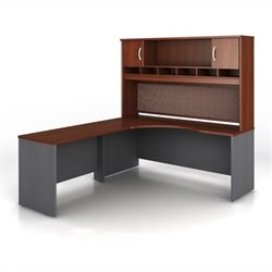 Bush BBF Series C 3-Piece Left-Hand L-Shaped Computer Desk in Hansen Cherry