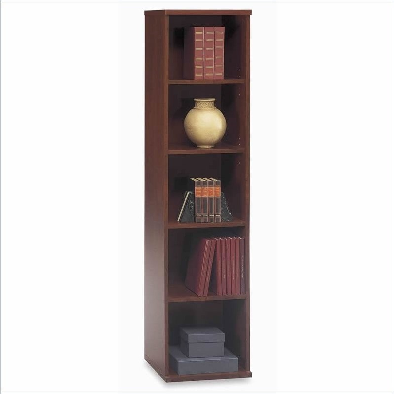 Bush BBF Series C Standard Separated Wood Office Set with Hutch in Hansen Cherry