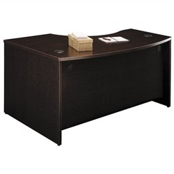 Bush Business Furniture Series C 60x43 RH L-Bow Desk in Mocha Cherry