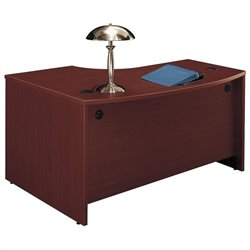 Bush BBF Series C 60W x 43D RH L-Bow Desk Shell in Mahogany