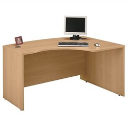 Bush Business Furniture Series C 60x43 RH L-Bow Desk in Light Oak