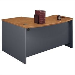 Bush Business Furniture Series C 60x43 RH L-Bow Desk in Natural Cherry
