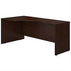 Bush Business Furniture Series C 72W LH Corner Module in Mocha Cherry