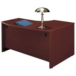 Bush Business Furniture Series C 60x43 LH L-Bow Desk in Mahogany