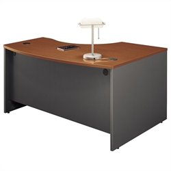 Bush Business Furniture Series C 60x43 LH L-Bow Desk in Auburn Maple