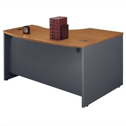 Bush Business Furniture Series C 60x43 LH L-Bow Desk in Natural Cherry