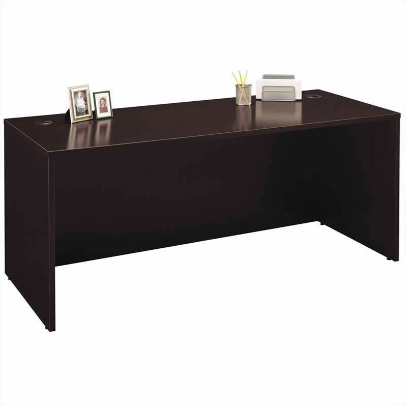 Bush BBF Series C 5-Piece U-Shape Desk Set in Mocha Cherry