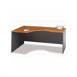 Bush BBF Series C 3-Piece U-Shape Bow-Front Corner Desk in Natural Cherry