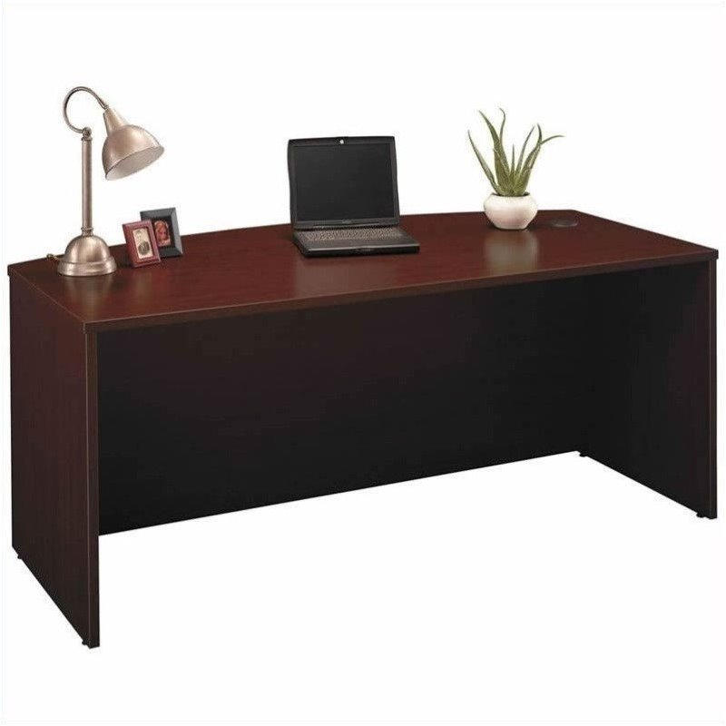 Bush BBF Series C 4-Piece Executive Desk Set with Hutch in Mahogany