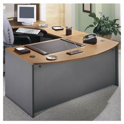 Bush BBF Series C Right L-Shape Wood Executive Desk in Natural Cherry