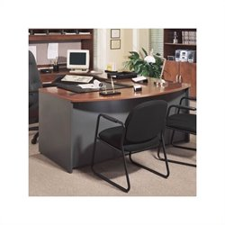 Bush BBF Series C Executive Right L-Shape Wood Desk in Hansen Cherry