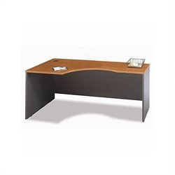 Bush BBF Series C Bow Front Wood Computer Desk in Natural Cherry