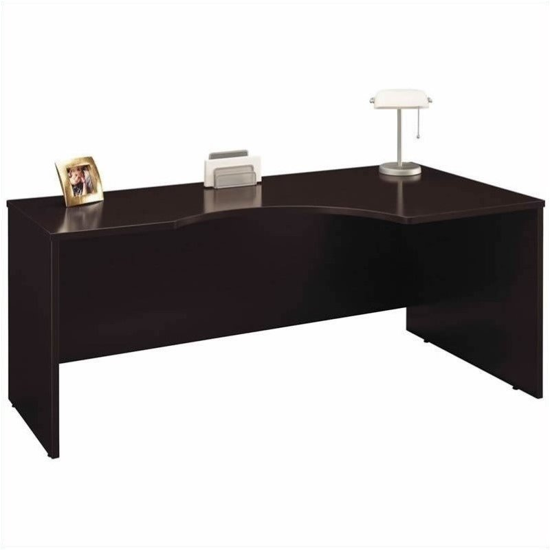 Bush BBF Series C Mocha Cherry Left L-Shaped Desk